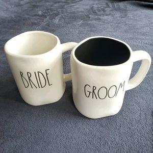 RAE DUNN | Bride and Groom Set of Mugs